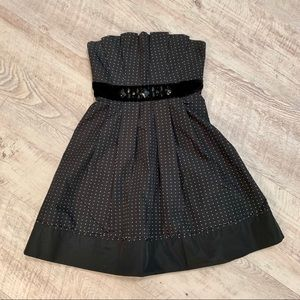 BCBGMAXAZRIA Strapless A-Line Cocktail Dress
